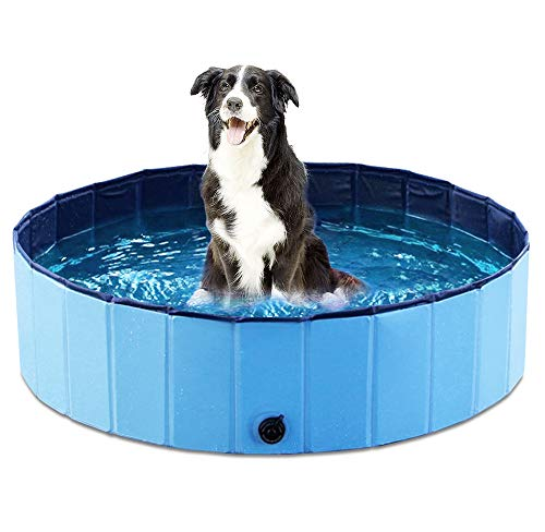 Foldable Dog Pet Bath Pool Collapsible Dog Pet Pool Bathing Tub Kiddie Pool for Dogs Cats and Kids - BEAN Ultra