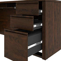 Universal Collection, L-Shaped Office Desk with Pedestal and Hutch - BEAN Ultra
