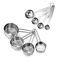 Stainless Steel Measuring Spoons and Measuring Cups Combo, Set of 8 - BEAN Ultra