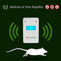 Pest Soldier The Original Ultrasonic Pest Repeller Electronic Plug in, [4-Pack ] - BEAN Ultra