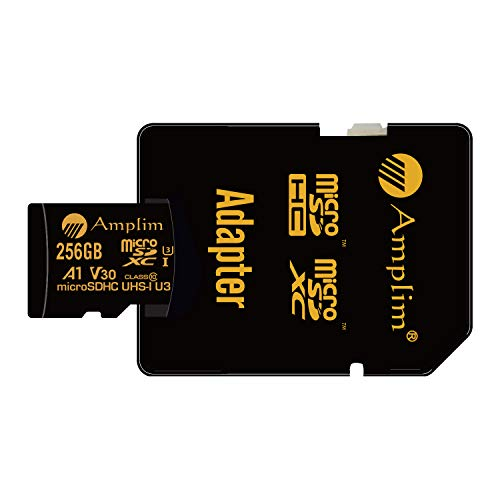 2-Pack 256GB Micro SD Card Plus Adapter - Amplim 256 GB MicroSD SDXC V30 A1 U3 Class 10 Ultra High Speed - BEAN Ultra