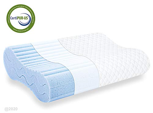 Memory Foam Pillow, Bed Pillow for Sleeping, Adjustable Contour Pillow for Neck Pain, Neck Support for Back - BEAN Ultra