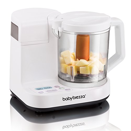 Baby Brezza Glass Baby Food Maker, Cooker and Blender to Steam and Puree Baby Food - BEAN Ultra