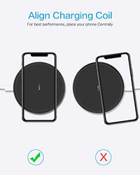 Fast Wireless Charger, Qi Certified Wireless Charging Pad 7.5W Compatible iPhone & Samsung Galaxy - BEAN Ultra