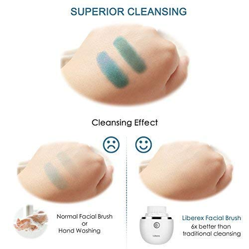 Sonic Vibrating Facial Cleansing Brush - 3 Brush Heads with 3 Modes, Smart Timer, Wireless Charging - BEAN Ultra