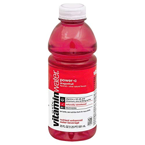 VitaminWater zero power-c, Dragon Fruit flavored, electrolyte enhanced bottled water, 12 Pack - BEAN Ultra