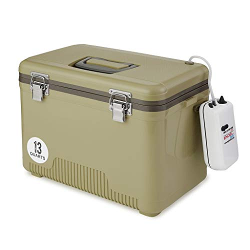Tan Live Bait Drybox/Cooler with 2 Speed Aerator Pump - BEAN Ultra