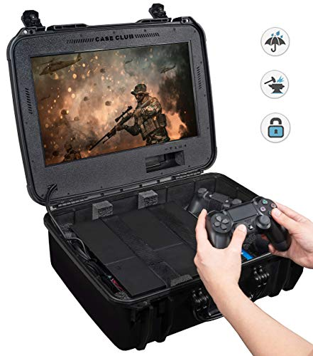 Waterproof Playstation 4 Portable Gaming Station with Built-in Monitor & Storage for PS4 Controllers & Games - BEAN Ultra