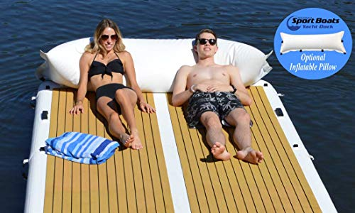 Inflatable Sport Boats Yacht Dock 10' x 6' x 6 inches Thick Inflatable Floating Platform - BEAN Ultra