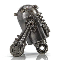 R2D2 Inspired Recycled Metal Sculpture Handcrafted from Scrap Metal - One of a Kind Handmade - BEAN Ultra