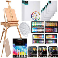 145 Piece Deluxe Artist Painting Set with French Easel, Art Painting Brushes, Tubes, Pads, Canvas - BEAN Ultra