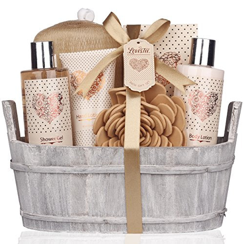 Spa Gift Basket – Bath and Body Set with Vanilla Fragrance by Lovestee - BEAN Ultra