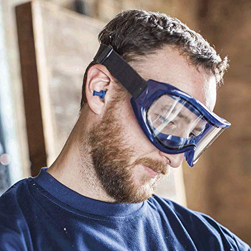 Flexible, Soft, Indirect Vented, Odyssey II Chemical Goggle, Scratch-Resistant, Anti-Fog, Dual Panel Clear Lens - BEAN Ultra