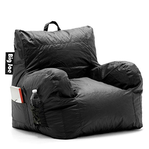 Big Joe Dorm Bean Bag Chair, Stretch Limo Black - BEAN Ultra