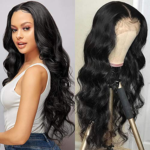 Synthetic Lace Front Wigs for Black Women, Glueless Long Wavy Wigs with Natural Hairline Heat Resistant - BEAN Ultra