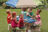 Step2 Naturally Playful Kids Picnic Table With Umbrella - BEAN Ultra