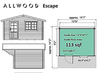 Allwood Escape | 113 SQF Cabin Kit, Tiny Home - BEAN Ultra