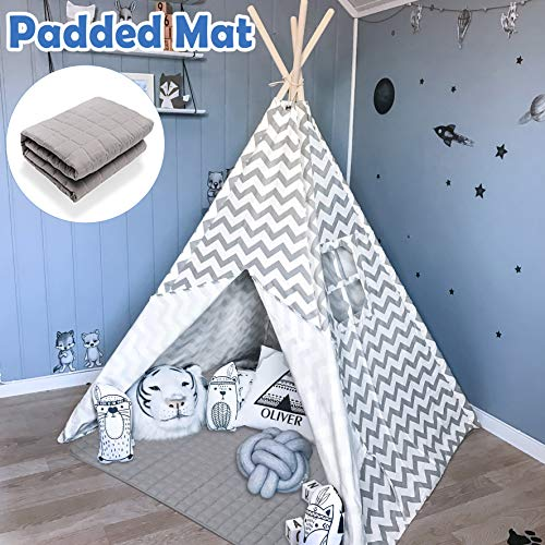 Teepee Tent for Kids with Padded Mat- Play Tent for Boy Girl Indoor & Outdoor - BEAN Ultra