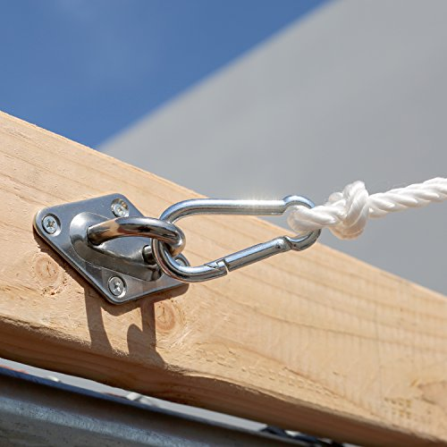 Sun Shade Sail Hardware Kit - 6 Inches - Super Heavy Duty - for Triangle Sun Shade Sail - BEAN Ultra