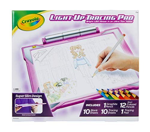 Crayola Light Up Tracing Pad Pink, At Home Kids Toys, Gift for Kids - BEAN Ultra