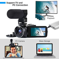 Video Camera  WiFi IR Night Vision FHD 1080P 30FPS, 26MP 3.0'' Touch Screen 16X Digital Zoom - BEAN Ultra