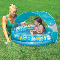 Tot Sunshade Pool With Removable Canopy and Carry Bag in Turquoise, Suitable For Children 6-18 Months - BEAN Ultra