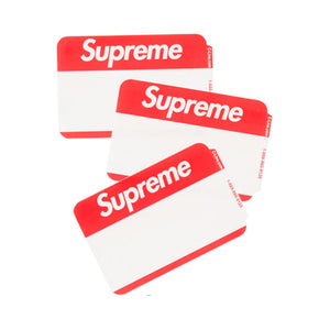 Sticker Supreme Name Badge Red FW20