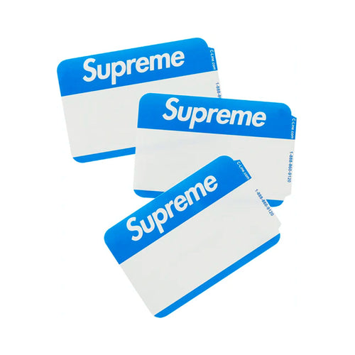 Stickers Supreme Name Badge Blue FW20