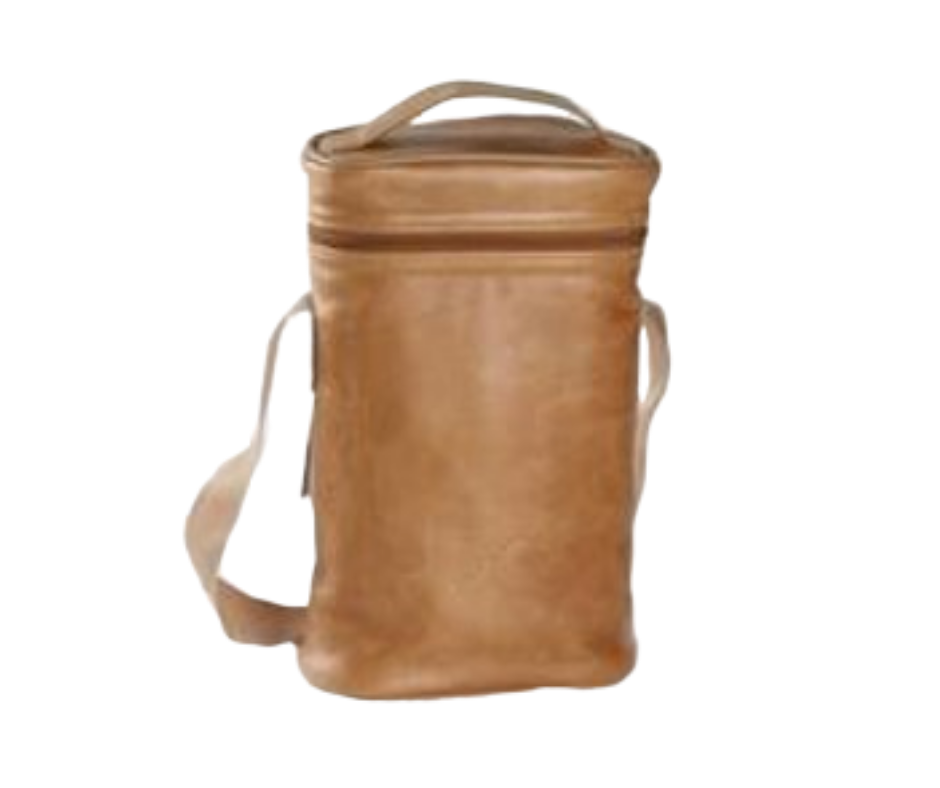 Thandana Wine Cooler double carry bag in leather