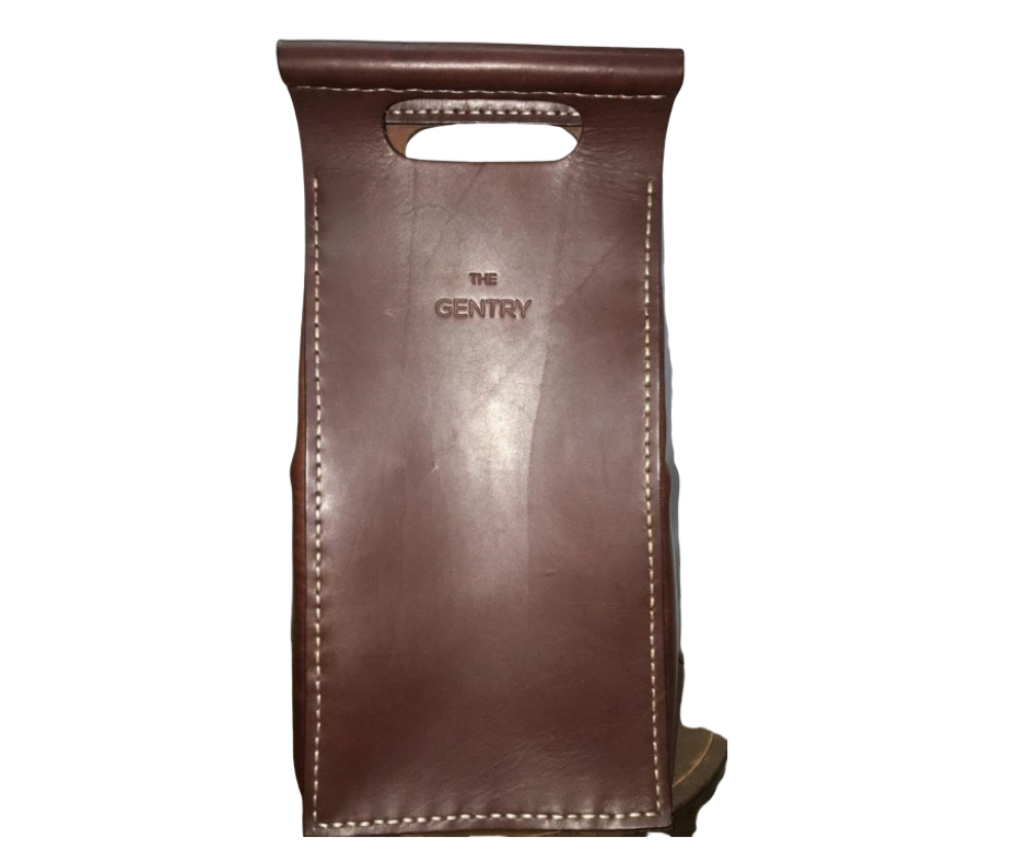 The Gentry Leather double wine tote