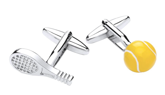 Gaventa novelty cufflinks tennis