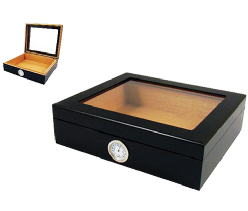 Black Matte with Glass top Humidor