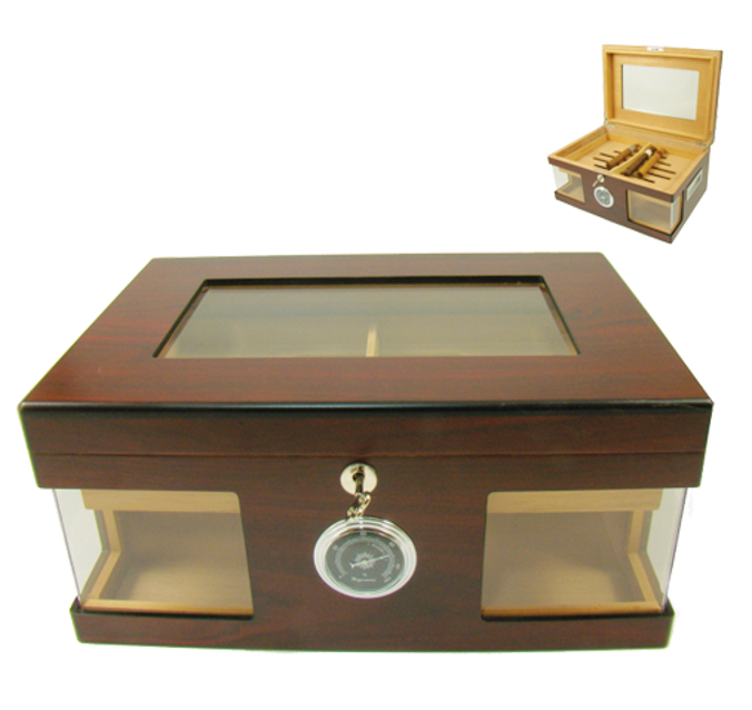 Large humidor cabinet in mahogony.