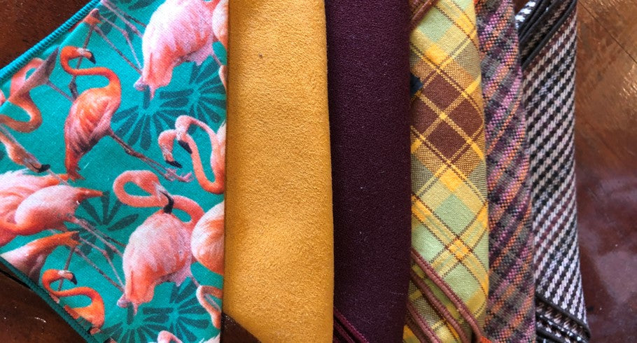 A variety of colour themes for your bow tie