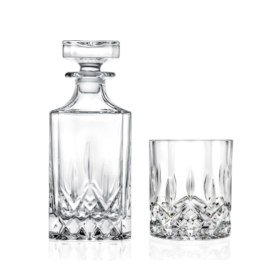 RCR Opera Crystal Decanter and Glasses