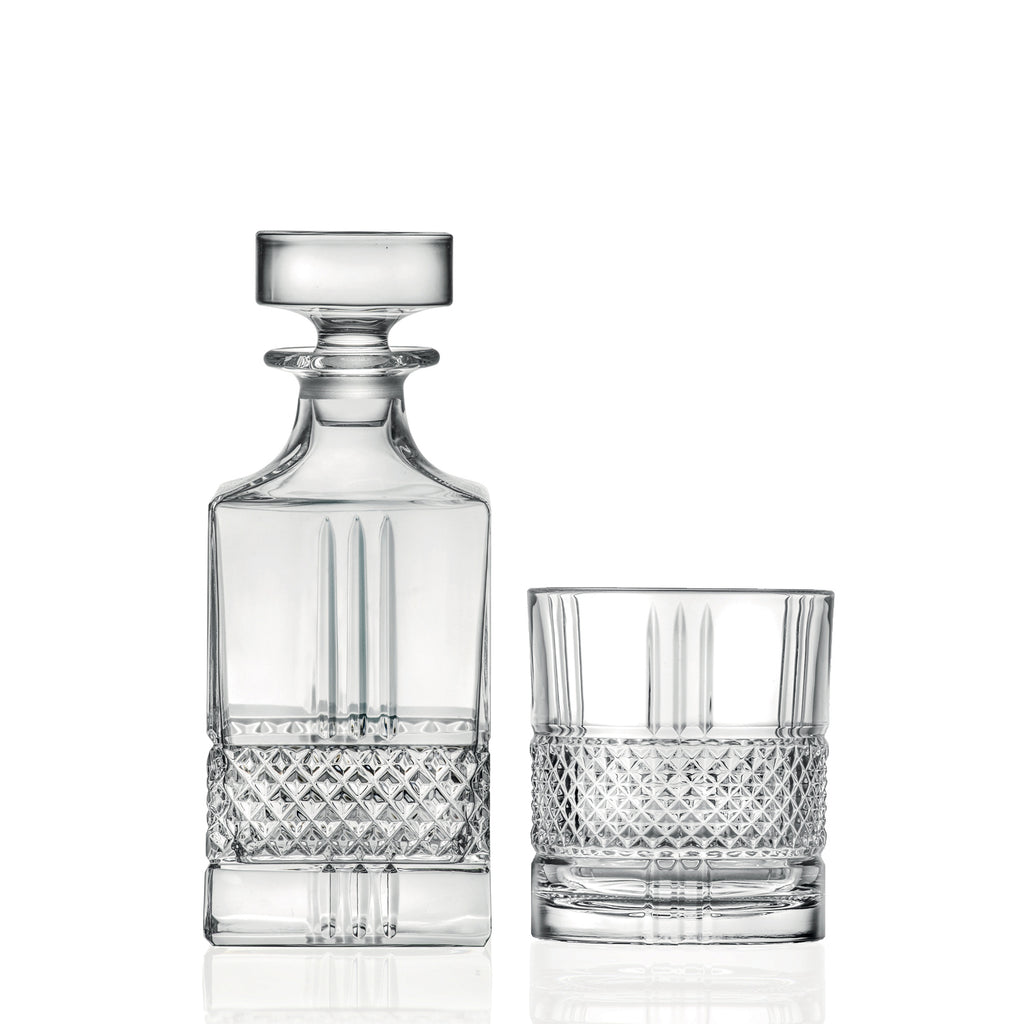 RCR Brillante Whisky Set Decanter and 6