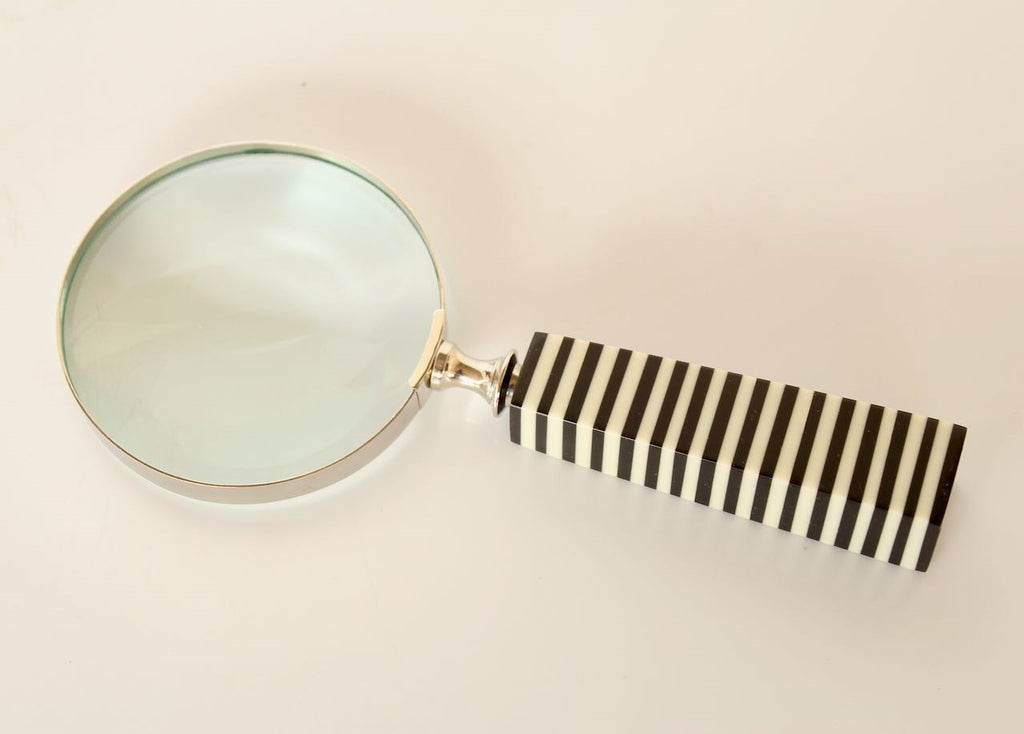 Silver Magnifying glass Black Handle