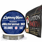 Wick & Wire Bundle - Nichrome 90 50' + Cotton Bacon PRIME