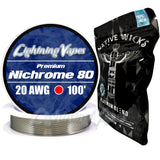 Wick & Wire Bundle - Nichrome 80 100' + Native Wicks Platinum