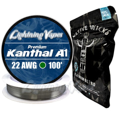 Wick & Wire Bundle - Kanthal A1 100' + Native Wicks Platinum