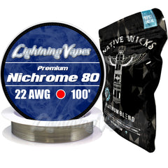 Wick & Wire Bundle - Nirchrome 80 100' + Native Wicks Platinum
