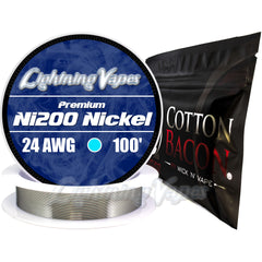 Wick & Wire Bundle - Ni200 Annealed 100' + Cotton Bacon V2