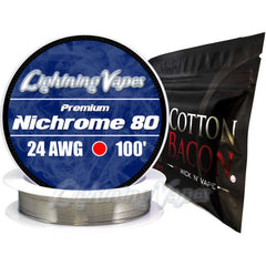 Wick & Wire Bundle - Nirchrome 80 100' + Cotton Bacon V2