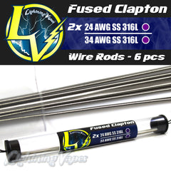 Fused Clapton Wire Rods - 6 pcs