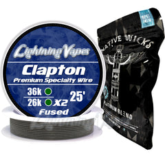 Wick & Wire Bundle - Clapton Wire 25' + Native Wicks Platinum