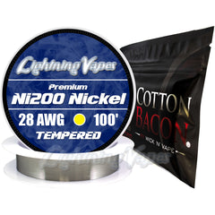Wick & Wire Bundle - Ni200 Tempered 100' + Cotton Bacon V2
