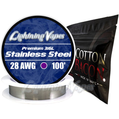 Wick & Wire Bundle - Stainless Steel 316L 100' + Cotton Bacon V2