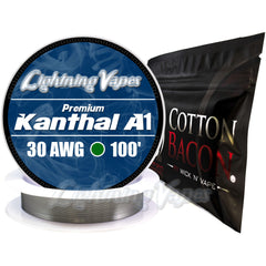 Wick & Wire Bundle - Kanthal A1 100' + Cotton Bacon V2
