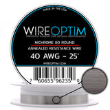 Nichrome Series 80 Resistance Wire (Even Gauges)