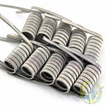 Clapton Wire Coils - Single Core SS 316L / SS 316L - 10 Pack